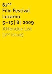 Attendee List (2nd issue) - Festival del film Locarno