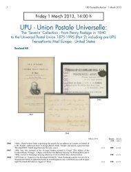 UPU - Union Postale Universelle: - Corinphila