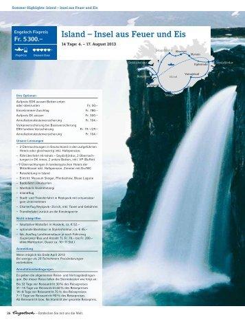 Island – Insel aus Feuer und Eis - Engeloch Reisen