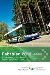 Fahrpla Fahrplan 2013 - Seetal-Freiamt