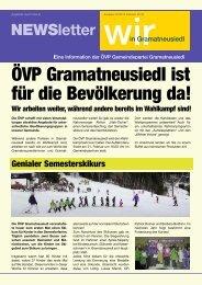 ÖVP Gramatneusiedl ist für die Bevölkerung da! - Volkspartei ...