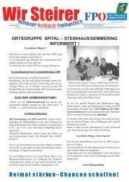 ortsgruppe spital – steinhaus/semmering informiert - FPÖ Steiermark