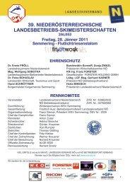 39. niederösterreichische landesbetriebs-skimeisterschaften