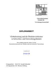 und Entwicklungsländern - KOPS - Universität Konstanz