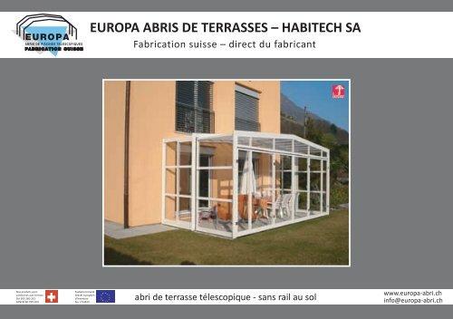 Europa Abris De Terrasses Habitech Sa Abri De Piscine
