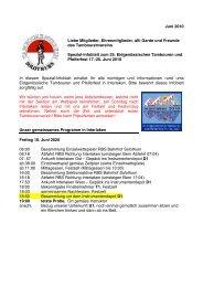Juni 2010 Liebe Mitglieder, Ehrenmitglieder, alti Garde und Freunde ...