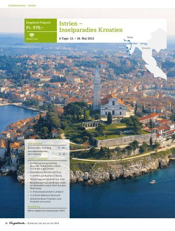 Istrien – Inselparadies Kroatien - Engeloch Reisen