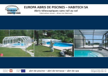 EUROPA ABRIS DE PISCINES – HABITECH SA - Abri de piscine