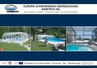 EUROPA SCHWIMMBAD-ÜBERDACHUNG ... - Abri de piscine