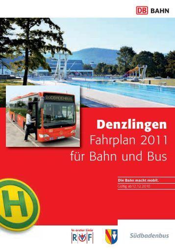 Fahrplan 2011 Denzlingen für Bahn und Bus