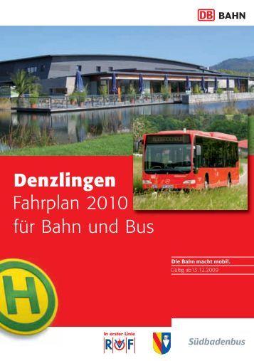 Denzlingen Fahrplan 2009 für Bus und Bahn Fahrplan 2010 ...