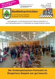 Stadtteilnachrichten Heft 38.qxp - Bürgerverein Freiburg Mooswald eV