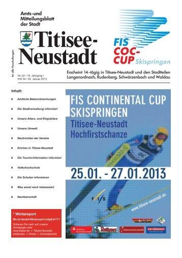 Amtsblatt Nr. 02 vom 24.01.2013 - Titisee-Neustadt