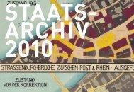 Jahresbericht 2010 - Staatsarchiv - Basel-Stadt