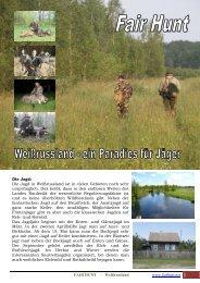 Die Jagd in Weißrussland ist in vielen Gebieten noch ... - Fair Hunt