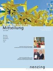 Bürgermeistermitteilung 09/01 - Marktgemeinde Nenzing