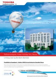 Hotel Holiday Inn, Neuss Umbau bei laufendem Betrieb - Toshiba