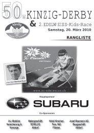 50. Kinzig-Derby & 2. Edelweiss-Kids-Race - ALGE-TIMING Schweiz