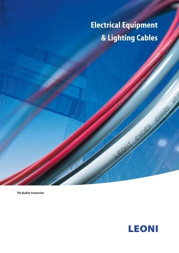 Electrical Equipment & Lighting Cables - LEONI Business Unit ...