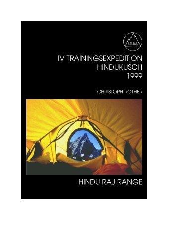 HINDU RAJ RANGE IV TRAININGSEXPEDITION HINDUKUSCH 1999