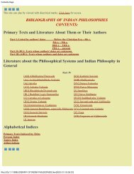 Literature about the Philosophical Systems and Indian Philosophy