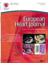 Front Matter (PDF) - European Heart Journal - Oxford Journals