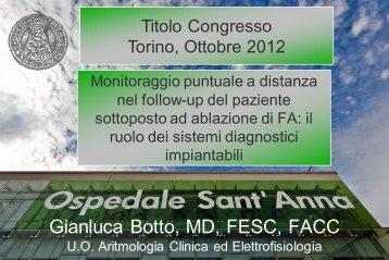 Gianluca Botto, MD, FESC, FACC - Cardiologiamolinette.it