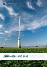 LEISTUNGSBILANZ 2008 - ENERTRAG EnergieInvest GmbH