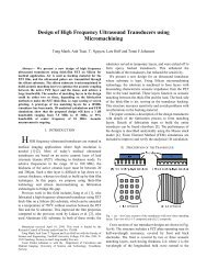 Design of High Frequency Ultrasound Transducers using ...
