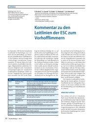 Kommentar zu den Leitlinien der ESC zum Vorhofflimmern