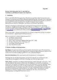 1 af 6 Maj 2005 Resume af høringsseminar den 27. april 2005 om ...
