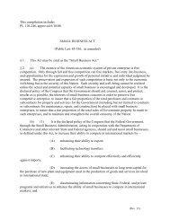 Small Business Act - SBA