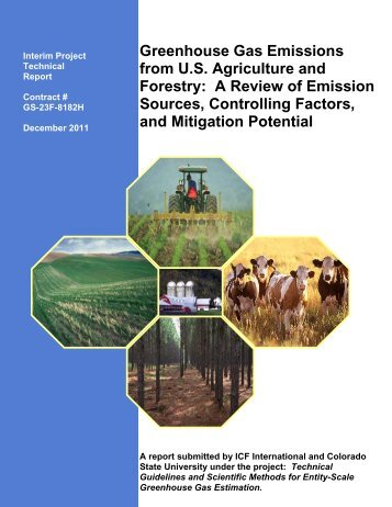 Greenhouse Gas Emissions from U.S. Agriculture and Forestry: A ...