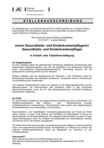 ITS_stellvertretende Stationsleitung - Altonaer Kinderkrankenhaus