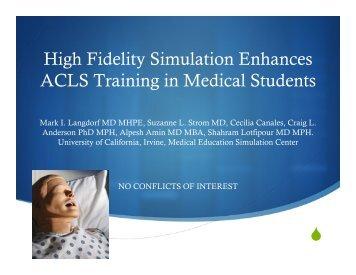 High Fidelity Simulation Enhances ACLS Training in Medical ... - MCI