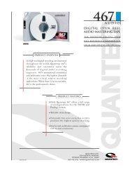 Digital open reel audio mastering tape - technicalaudio.com