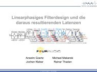 Linearphasiges Filterdesign und die daraus resultierenden Latenzen