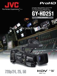 GY-HD251 Compact ProHD camcorder for Studio and ENG ...