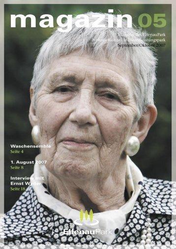 Magazin 05, 09/10.07 - bei ElfenauPark