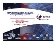 Opportunities in Federal NITRD High End Computing Interagency ...