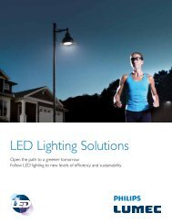 LED Lighting Solutions Brochure - Lumec