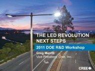 The LED Revolution Next Steps - EERE