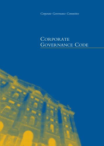 Corporate Governance code (March 2006) - Unicredit Group