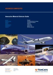AdvAnced composites interactive material selector Guide - TenCate