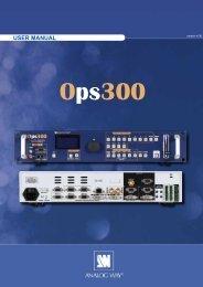 OPS300 User Manual (PDF) - Analog Way