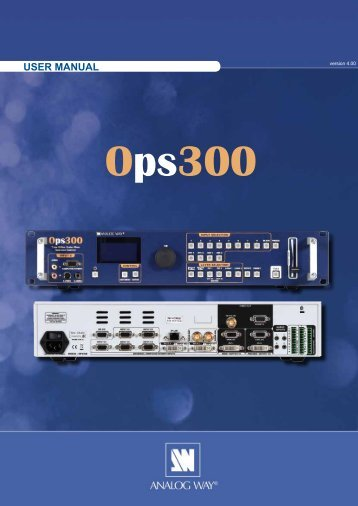 OPS300 User Manual (PDF) - Analog Way