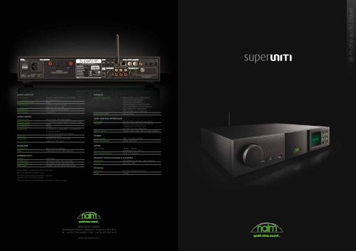 all-in-one audio player - Naim Audio