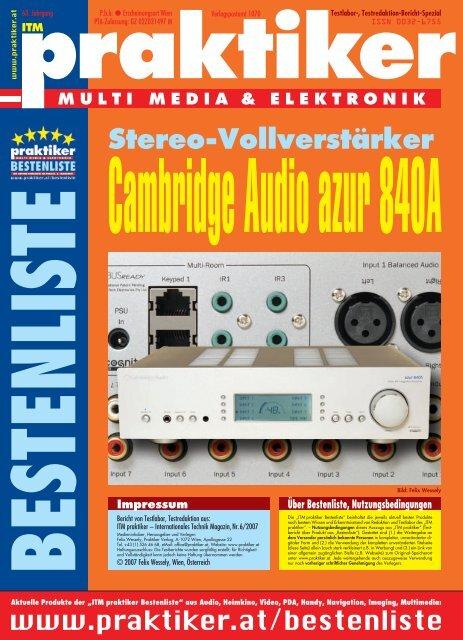 Cambridge Audio azur 840A: Stereo-Vollverstärker - ITM praktiker ...