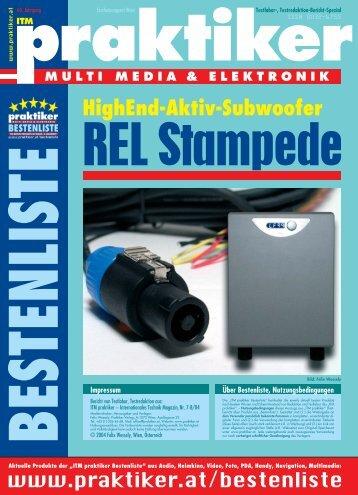 REL Stampede: HighEnd-Aktiv-Subwoofer - ITM praktiker Bestenliste