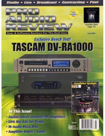 2010-08-16 17:26:23 | DV-RA1000 - Tascam